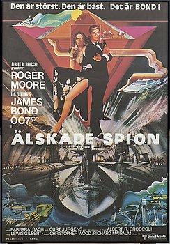 """""""ÄLSKADE SPION JAMES BOND"""" filmaffisch, 1977."""