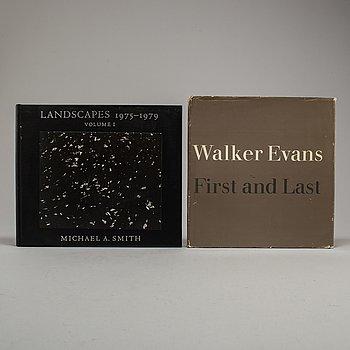 FOTOBÖCKER, 2 st, Walker Evans Michael A. Smith. Med dedikation.