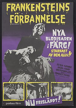 """""""FRANKENSTEINS FÖRBANNELSE"""" filmaffisch, 1965."""