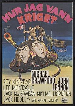 """""""HUR JAG VANN KRIGET"""" filmaffisch, BOK-LITO AB BORÅS 1967."""