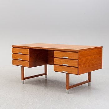 A second half of the 20th century writing desk by Kai Kristiansen, Feldballes Møbelfabrik, Denmark.