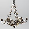 A 19th century metal and porcelain chandelier