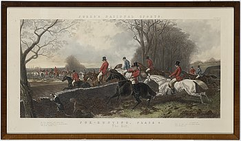 Two hand coloured engravings engraved by J Harris, printed by J F Herring, mid 19th century.