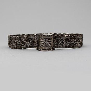 BÄLTE / SKÄRP, silver, icke identifierad mästarstämpel, Ryssland 1908-1917.