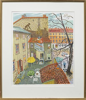 MONA HUSS WALIN, färglitografi, numrerad 362/420, signerad och daterad 1990.