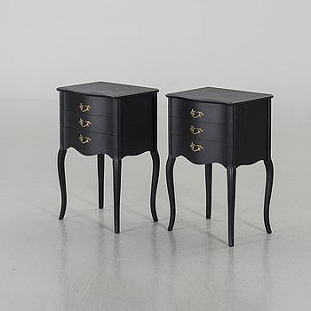 A PAIR OF BEDSIDE TABLES, second half of 20th century.