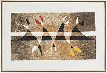 PIERRE OLOFSSON, litografier, 4 st, signerade och numrerade 85/100.