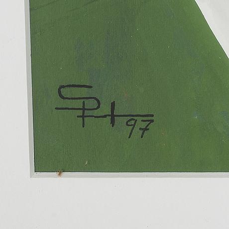 Sven hansson, blandteknik, monogramsignerad och daterad  97