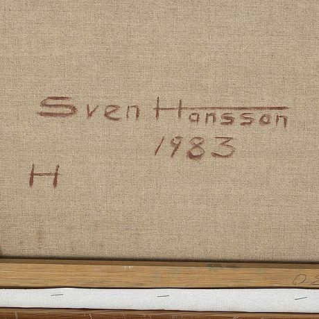 Sven hansson, olja på duk, signerad och daterad 1983 à tergo