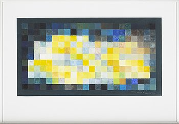 SVEN HANSSON, gouache, signed and dated -99.