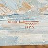 Sven hansson, olja på duk, signerad och daterad  75