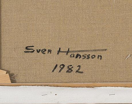 Sven hansson, olja på duk, signerad och daterad 1982 à tergo