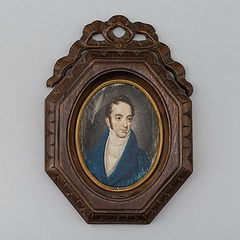 An Empire portrait miniature, first half of the 19th Century.
