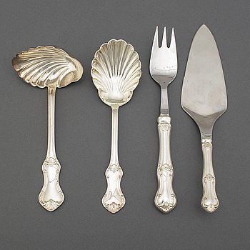Four pcs of silver cutlery, 'Patricia', MEMA 1970's.