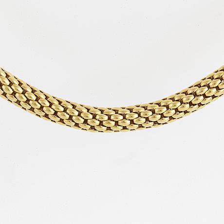 Fope, collier, italien, 18k guld.