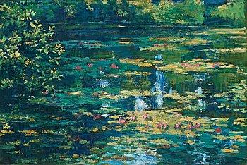 """185. Gerhard Nordström, """"Motif from Claude Monet's garden in Giverny""""."""
