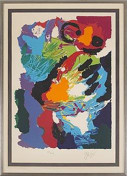 KAREL APPEL, färglitografi, signerad och numrerad 133/150.