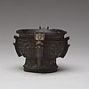 An archaistic bronze censer, presumably ming dynasty.