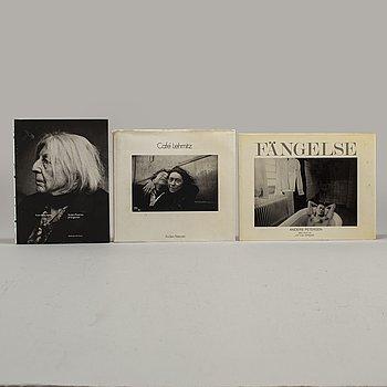 """FOTOBÖCKER, 3 st Anders Petersen, bl.a """"Café Lehmitz"""", dedikation och signatur."""