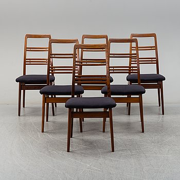 Six 'Rosetto' chairs by Svante Skogh, second half of the 20th century.