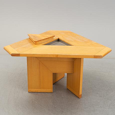 A 1970s ashwood table by silvio coppola for monitna, italy.