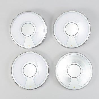 """ALBERTO MEDA & PAOLO RIZZATO, vägglampor, 4 st, """"Light disc"""", Luceplan."""