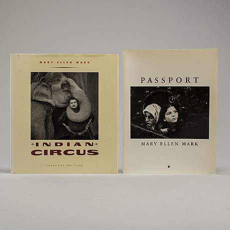 Photobooks, two (2) mary ellen mark with signature and dedication