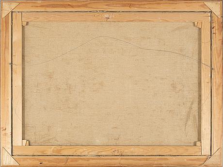 Sven hansson, olja på duk, signerad sven hansson 1958