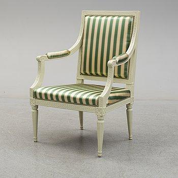 JOHAN LINDGREN, A late 18th century Gustavian chair.