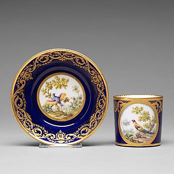 309. A 'Sèvres' cup and saucer, 18th Century.