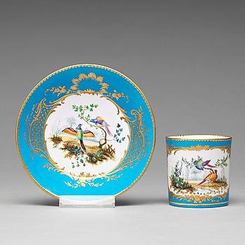 310. A 'Sèvres' cup and saucer, 18th Century.