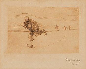 192. Hugo Simberg, DEATH IS SKATING.