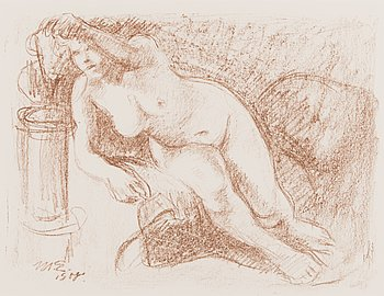 MAGNUS ENCKELL, lithograph, signed and dated 1908 in the plate.