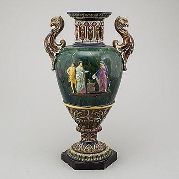 A late 19th century ceramic vase.