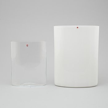 Two Ovalis Glass Vases by Iittala.