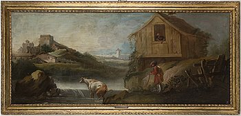 VENETIANSK SKOLA, 1700-tal, olja på duk.