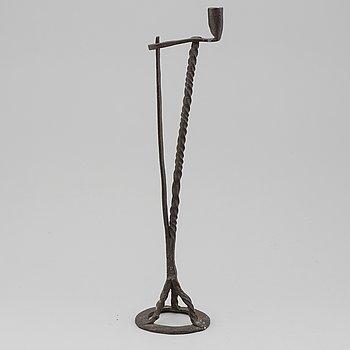 Golvljusstake, smide, allmoge, 1800-tal.