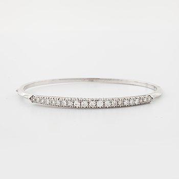 A brilliant and single cut diamond bangle made in Alessandria, Italy.