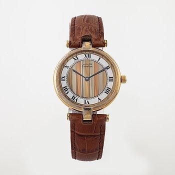 must de CARTIER, Argent, armbandsur 30 mm.