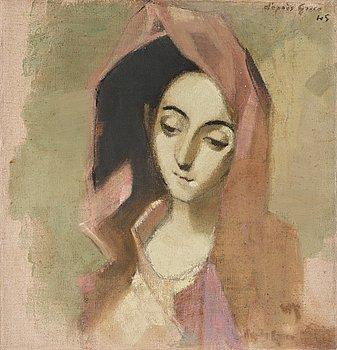 """443. Helene Schjerfbeck, """"Vårbroddens madonna""""."""