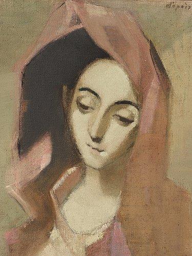 """Helene schjerfbeck, """"vårbroddens madonna"""""""