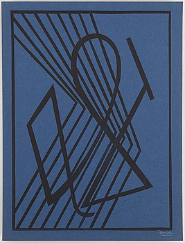 CÉSAR DOMELA, woodcut, signed, 1932.