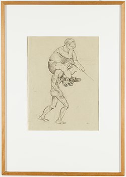 PETER WEISS, ink and pencil, signed with monogram, dated 46.
