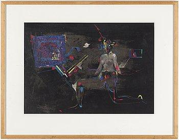 PETER WEISS, collage och blandteknik på papper.