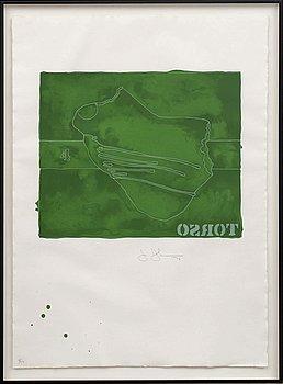 JASPER JOHNS, färglitografi, signerad och numrerad 8/50, daterad '74.