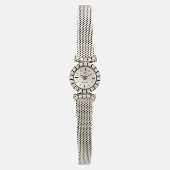 An Omega ladies watch, with diamonds.