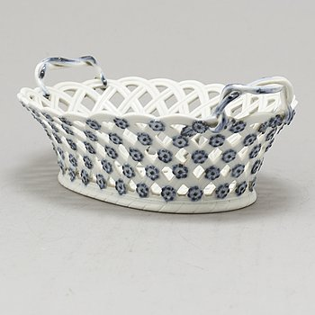 A porcelain bowl, Meissen like mark, probably Germany, circa 1900.