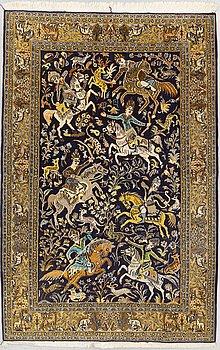 MATTA, Old Ghom, part silk, ca 212 x 141 cm.