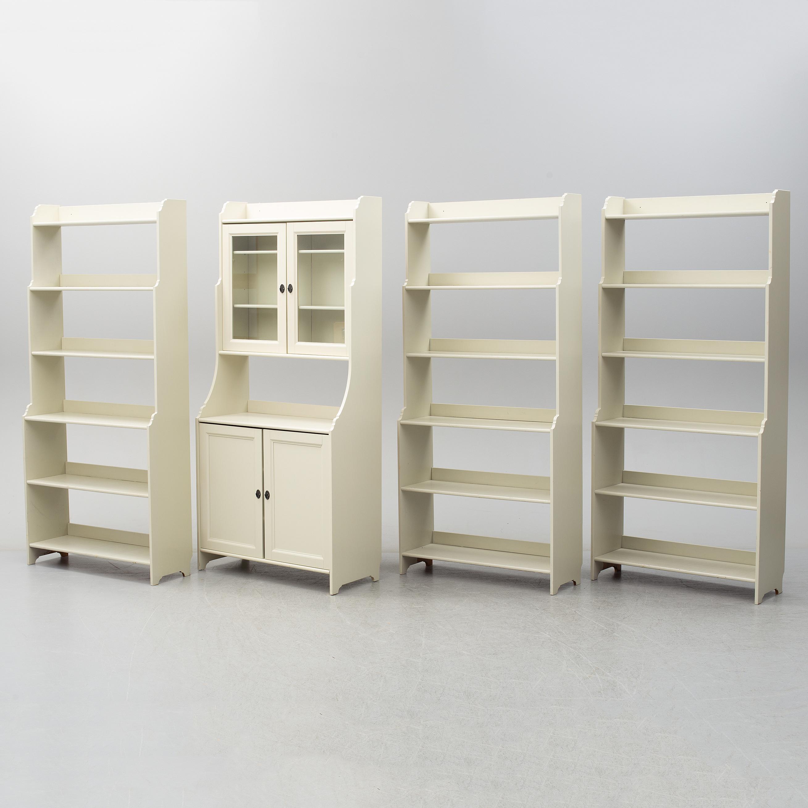Ikea Leksvik Bureau.Three Bookshelves And A Cupboard Leksvik By Ikea Bukowskis