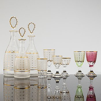 A 20th century 140 pcs 'Oderberg' glass service by Kosta.